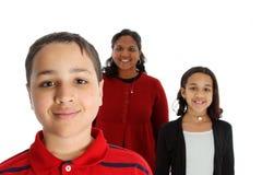 WB van de familie stock foto