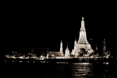 WB of Wat Arun (Temple of Dawn) Stock Photo