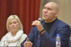 WBA World champions Nikolay Valuyev and Natalia Ragozina Stock Photos