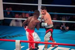 WBC EPBC拳击冠军在莫斯科 免版税库存图片