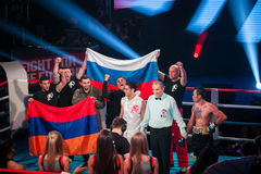 WBC EPBC boxing championship in Moscow Stock Image