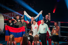 WBC EPBC boxing championship in Moscow Stock Photography