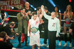 WBC EPBC boxing championship in Moscow Stock Images