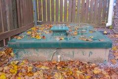 Wbita systemu odpady Sump zieleń Zdjęcia Royalty Free