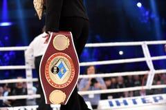 WBO洲际的次重量级冠军传送带 库存照片