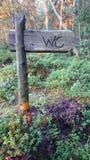 WC标志 免版税图库摄影