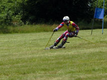 wc катания на лыжах травы cenkovice Стоковая Фотография RF