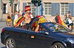 wc футбола 2010 вентиляторов немецкий Стоковая Фотография RF