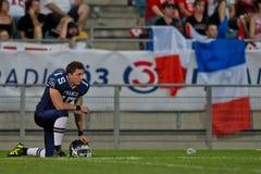 WC 2011 van de voetbal: Frankrijk versus Canada Stock Foto's
