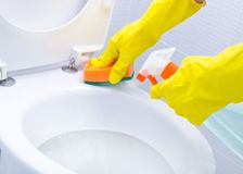 清洗WC 库存图片