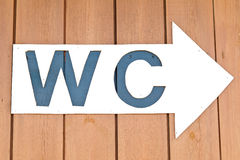 WC Arrow Sign Stock Images