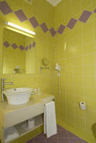 WC - Bathroom with Mirror and pan cold colours Royalty Free Stock Image