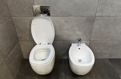 Wc and bidet Stock Photos