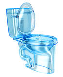 WC blue transparent glass Stock Image