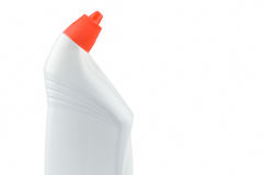 WC-Cleaner. Detergent in white bottle. Stock Photos