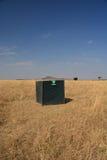 Wc del retrete con un safari Tanzania de la visión Foto de archivo libre de regalías