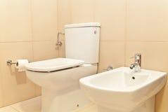 WC del retrete y bidé Fotografía de archivo libre de regalías