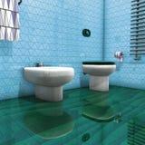 Wc della stanza da bagno Fotografia Stock Libera da Diritti