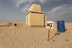 WC in the desert Stock Photography