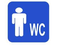 Wc do macho ilustração royalty free
