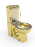 WC dorato Fotografia Stock Libera da Diritti