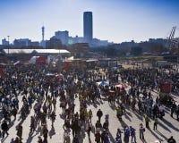 wc för 2010 för ingångsfifa fotboll supportrar för stadion Arkivbilder