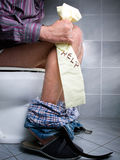 WC help. Conceptual view of digestive problems like constipation or diarrhea Stock Photo