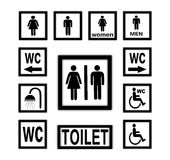 WC icons Royalty Free Stock Photo