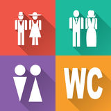 Wc icons Royalty Free Stock Image