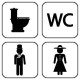 WC icons Royalty Free Stock Photos