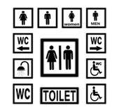 WC-Ikonen Lizenzfreies Stockfoto
