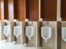 WC for men. Clean public men toilet room, wc royalty free stock photos
