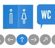 Wc pictogram Royalty Free Stock Image