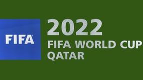 WC promoci 2022 znak Fotografia Royalty Free