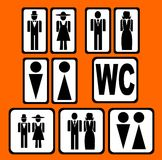 WC sighns set. Black WC sighns set vector illustration