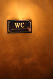 WC sign Royalty Free Stock Photography