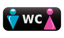 WC sign stock illustration