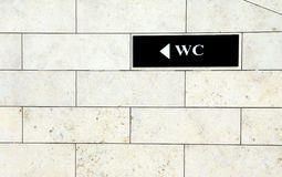 WC sign Stock Images