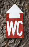 WC sign Royalty Free Stock Photo