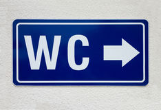 WC sign Royalty Free Stock Image