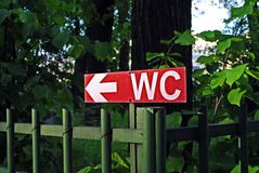 WC sign Royalty Free Stock Images
