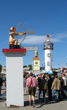 WC-sign post at Oktoberfest Festival Stock Image
