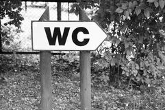 WC sign Stock Photos