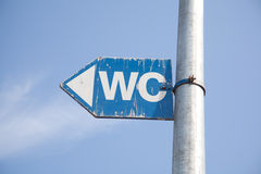 WC sign water closet , toilet Stock Images