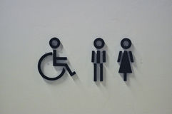WC Signages Royalty Free Stock Photos