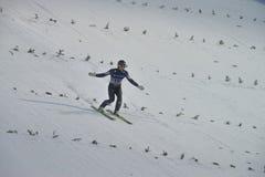 WC-Ski, der fliegt am 14. Februar 2015 Vikersund (Norwegen) Lizenzfreie Stockbilder