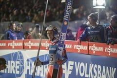 WC-Ski, der fliegt am 14. Februar 2015 Vikersund (Norwegen) (von der 2. Hälfte Stockfotografie