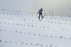 WC-ski die Vikersund (Noorwegen) vliegen 14 Februari 2015 Stock Foto's