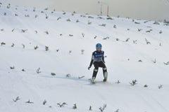 WC-ski die Vikersund (Noorwegen) vliegen 14 Februari 2015 Royalty-vrije Stock Afbeeldingen