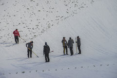 WC-ski die Vikersund (Noorwegen) vliegen 14 Februari 2015 Royalty-vrije Stock Foto's